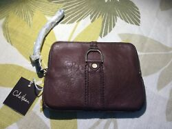 COLE HAAN CLASSIC Leather Wristlet NEW WITH TAGS GREAT 🎁 CHRISTMAS GIFT