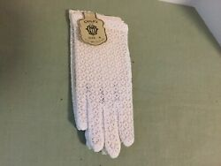 Vintage 1950's little girl's white lace gloves