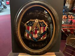 Late 1800's Reverse Glass Convex Mason's Sign  Watch Our Video