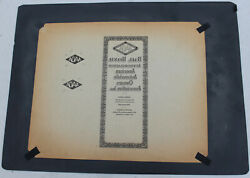 Antique Aaoa American Automobile Owner Association Car Club Offset Litho Plate