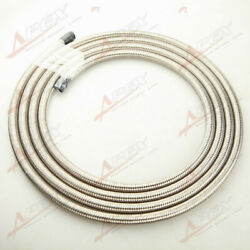 Stainless Steel Braided 1500 Psi An8 An8 8an Fuel Line Gas Oil Hose 6m 19.7ft