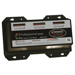 Dual Pro Ps3 Professional Battery Charger 15a 3bank 45a 12-36v Boat Rv Camper Md