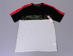 M.C. Squared Men's Short Sleeve Color Block T-Shirt Camouflage Size XL NWT