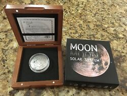 Niue Moon Nwa 8609 Meteorite Solar System 2015 Silver Coin
