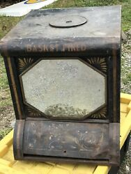 Antique General Store Coffee Bin Fire Roasted Coffee Beans Countertop Display