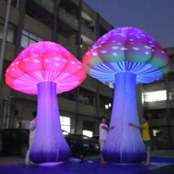 3m Full Printing Colored Giant Inflatable Mushroom For Theme Park Event Party