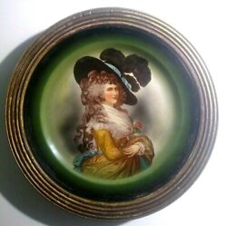 After Thomas Gainsborough, Duchess Of Devonshire Portrait Plate In Gilded Frame