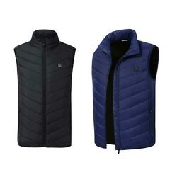 H3E# Winter Hiking Vests USB Charging Cycling Men Women Electric Heated Vest