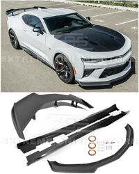 For 16-up Camaro All | Refresh Zl1 1le Style Front Lip Side Skirts Rear Spoiler