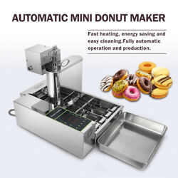 Commercial Automatic Donut Machine Electric Chocolate Doughnut 4 Rows 2000w
