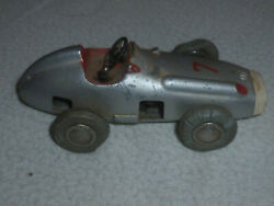 Vintage Schuco Car Wind Up Micro Racer 1043 Germany Racing 7 Mercedes Silver