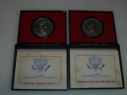 Vintage Americas First Medals Lot Of 2 General Horatio Gates Washington Boston