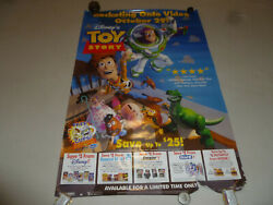 Pixar Toy Story Buzz Lightyear Disney Video Poster 1996 One Sided Advertising