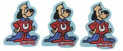 Underdog Character Figure 3 1/2 Tall Embroidered Iron On Patch Set Of 3