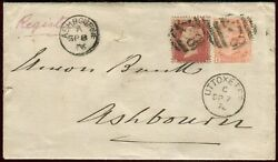 Sg 152 4 Vermilion And Sg 43 1d Red Plate 50. A Fine Used Pair