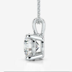 Necklace Round Diamond Vs1 Estate 0.6 Ct Earth Mined Flawless 18 Kt White Gold