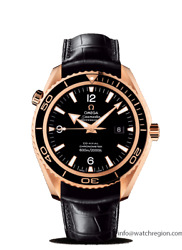 OMEGA 18K ROSE CERAGOLD SEAMASTER PLANET OCEAN COAXIAL WATCH 232.63.42.21.01.001