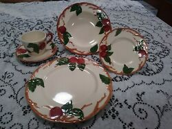 Vintage Franciscan Apple Pottery China Plates Cups Bowls Platter