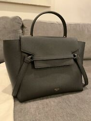 100 Authentic Celine Micro Belt Bag Grained Calfskin Black With Gold Hardware