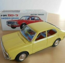 Toyota Corolla 1400hi-deluxe Yellow Tinplate Car Friction Powered Made In Japan