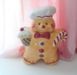 Designed Laurie Gates Gingerbread Man Xmas Cookie Jar Holiday Treats Home Decor