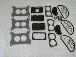 Holley/gm Vette Carb Rebuild Kit For Tri Power With Diaphrgams