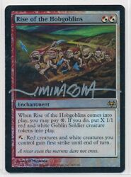 Mtg Rise Of The Hobgoblins Eventide Rare Foil Signed By Artist Jeff Miracola Hp