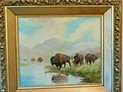 Julius Jacque Rorphuro 1861-1929 Fresno Ca. In For A Drink O/c Signed