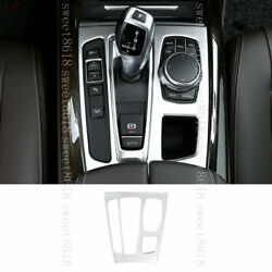 For Bmw X5 X6 F16 F15 14-18 Abs Chrome Center Gear Shift Knobs Panel Cover Trim