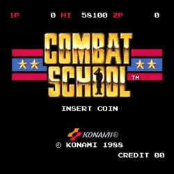 Used Combat School No Paddle Konami Pcb Board Arcade Game Part F/s From Japan