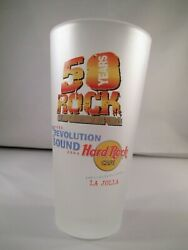 Hard Rock Cafe 50 Years Revolution Of Sound Frosted Glass Pepsi La Jolla