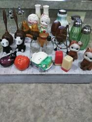 Vintage Salt And Pepper Shakers Lot 11 Sets 6 Singles Stand Rare And Unique Japan