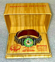 Roy Rogers Watch 1940and039s Ingraham New In Box Engraved Roy Rogers And Trigger