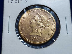 1881-s Liberty Head Gold Eagle 10 Coin - Au Condition