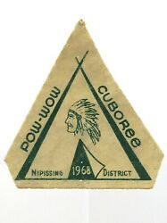 Pow Wow Cuboree Nipissing District 1968 Used Patch M676