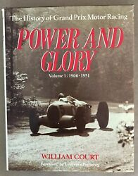 Book Power And Glory History Of Grand Prix Motor History Vol. 1 And 2 1952-1973