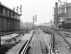 Old Train Photo Points And Signals At St Pancras Junction, London, C 1900 3