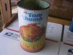 Vintage Tom Thumb quot;One Whole Chickenquot; Tin Tony Downs Food Co St James Minnesota
