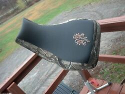 Yamaha Grizzly 660 Seat Cover Camo And Black Deer Logo