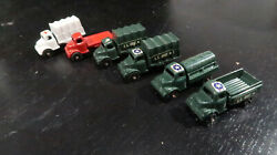 G Barclay Mini Vehicle Lot Ambulance Truck Red Flat Bed And Military Vehicles