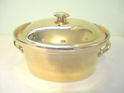 Hall China Vintage Golden Glo 101 22kt Gold Finish Covered Casserole Rare
