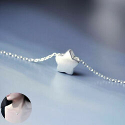 925 Silver Lovely Little Charm Star Chain Women Pendant Jewelry Necklace Gift