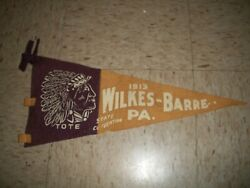 Antique Improved Order Of The Redmen Red Men 1915 Wilkes Barre Pa Tote Pennant