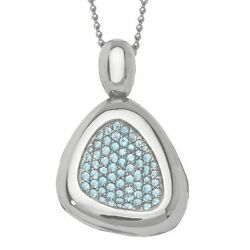1160 Roberto Coin Capri Plus Polished Sterling Silver Topaz Necklace Women New