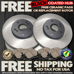 O0084 Fit 2007 Chevy Tahoe Suburban Avalanche 1500 Black Brake Rotors Pads F+r