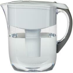 10 cup White Grand Water Pitcher with Filter