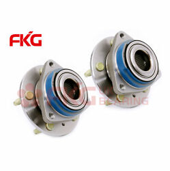 Pair 2 Front Wheel Hub Bearing Assembly 5 Stud For 2000-2008 Chevy Impala 513203
