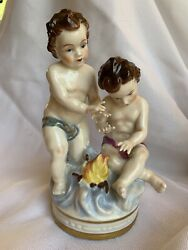 Dresden Figurines. Germany Porcelain Mint Condition. Four Representing Seasons