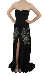 John Richmond Dress Black Sequined Flare Ball Gown It42 / Us8 / M Rrp 6000