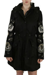 John Richmond Jacket Coat Floral Sequined Beaded Hooded It40 / Us6 / S Rrp 5200